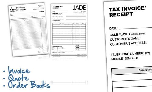 Invoice, Quote & Order Book Printing & Printers Melbourne